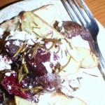 roasted potato & beetroot salad