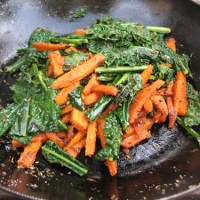 sweet potato carrot & kale palya