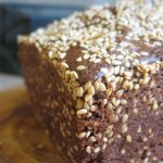 sesame-seeded carrot cake