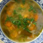 miso mushroom barley soup