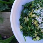 zucchini spinach palya