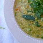 soothing quinoa and dal kichadi