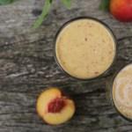 peach chia breakfast shake