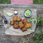 carrot coriander fritters