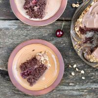 Amy Chaplin's chocolate hazelnut layer cake (vegan)