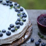 lemon coconut cake with blueberry compote (vegan)
