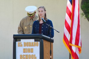 El Dorado High School Veterans Day ceremony.