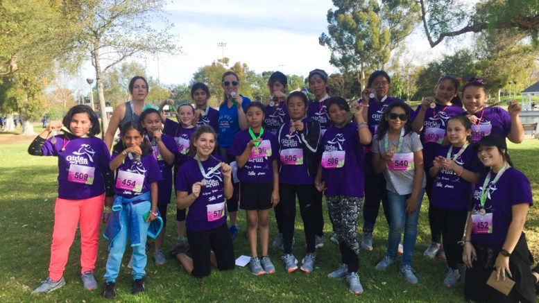 Ruby Drive girls on the run after their 5K.