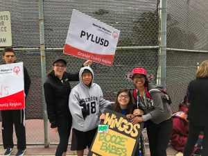 PYLUSD Special Olympic athletes.