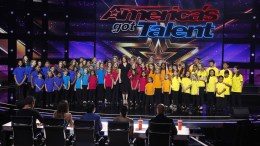 Voices of Hope Children's Chior following their first performance on America's Got Talent.