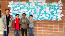 Ruby Drive students showing kindness.