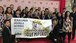 Kraemer Middle School's Science Olympiad team after earning 6th place at the National Tournament on June 1, 2019.