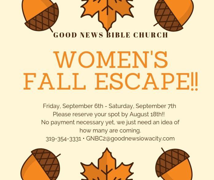 Women's Fall Escape