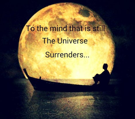"""""""To the mind that is still; the universe surrenders."""""""