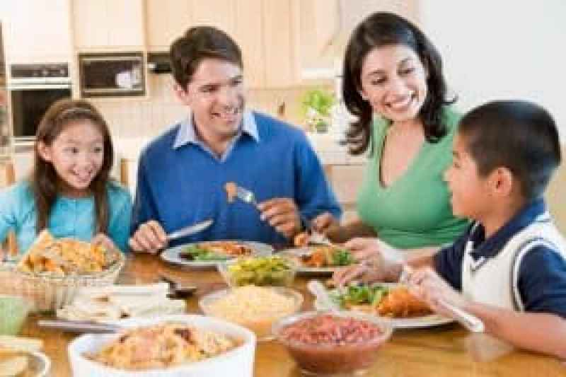 Good parenting brighter children, family mealtime,