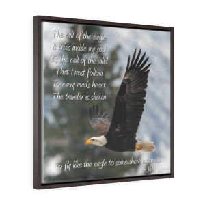 Call Of The Eagle Square Framed