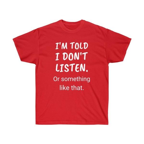 Good Point Shop - I don't listen - Tee