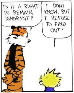 calvin-ignorant