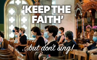 """Keep the faith"" … but don't sing about it."