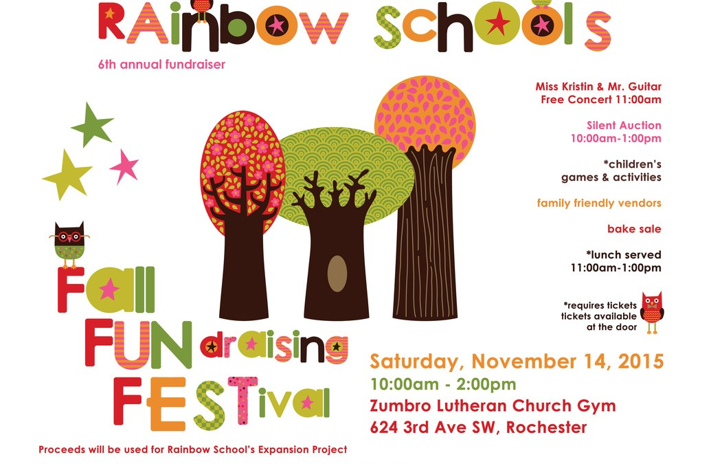 Rainbow School's 6th Annual Fall FUNdraising FESTival – 2015