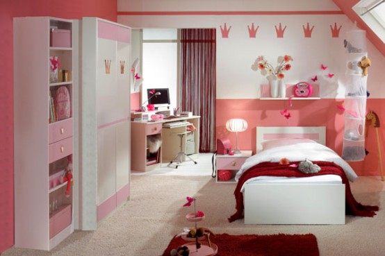 15 Cool Ideas For Pink Girls Bedrooms | Home Design ... on Girls Room Decoration  id=89247