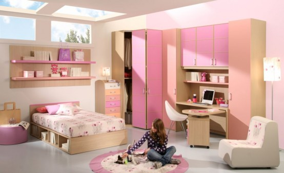 15 Cool Ideas For Pink Girls Bedrooms | Home Design ... on Awesome Ideas  id=88755