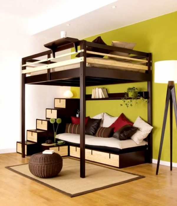 Space-Saving Ideas for Small Bedroom | Home Design, Garden ... on Bedroom Ideas For Small Spaces  id=25277