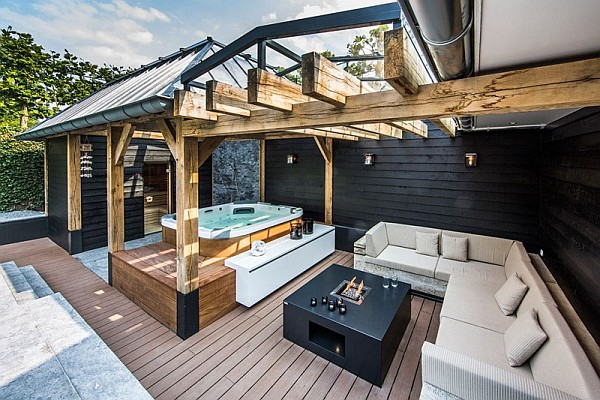Luxury Backyard Drenched Decorated in The Netherlands ... on Luxury Backyard Design  id=27124