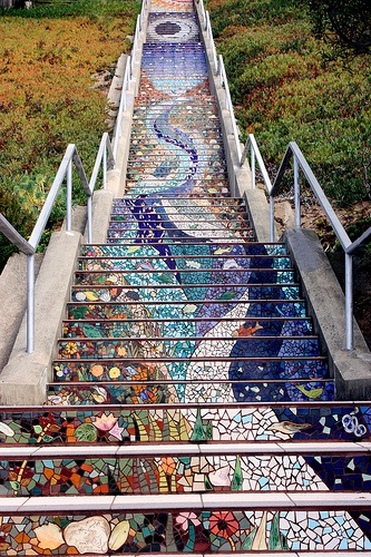 Gorgeous Mosaic Staircase Home Design Garden Amp Architecture Blog Magazine