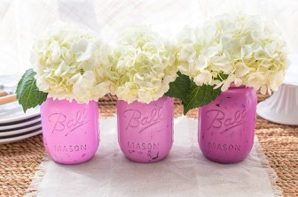 Stay on trend: ombre paint your mason jars.