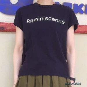 "ロゴノースリーブTシャツ ""Reminiscence"" a piece of Library ¥6,264"