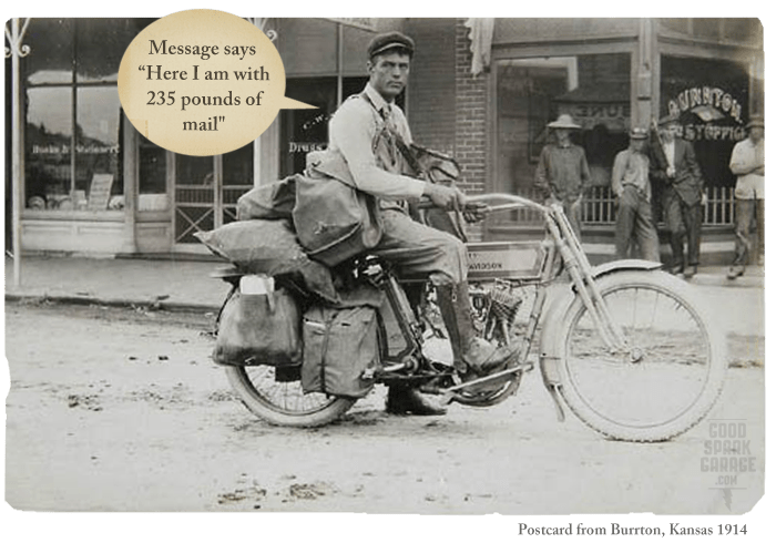 The Early Days Of Motorcycle Messengers