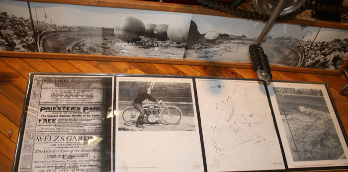 Dave mungenast classic motorcycles museum st louis south st louis once had a wooden bowl track motordrome at priesters park located at grand and meramec streets solutioingenieria Image collections