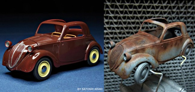 Simca 5 Car Before and After