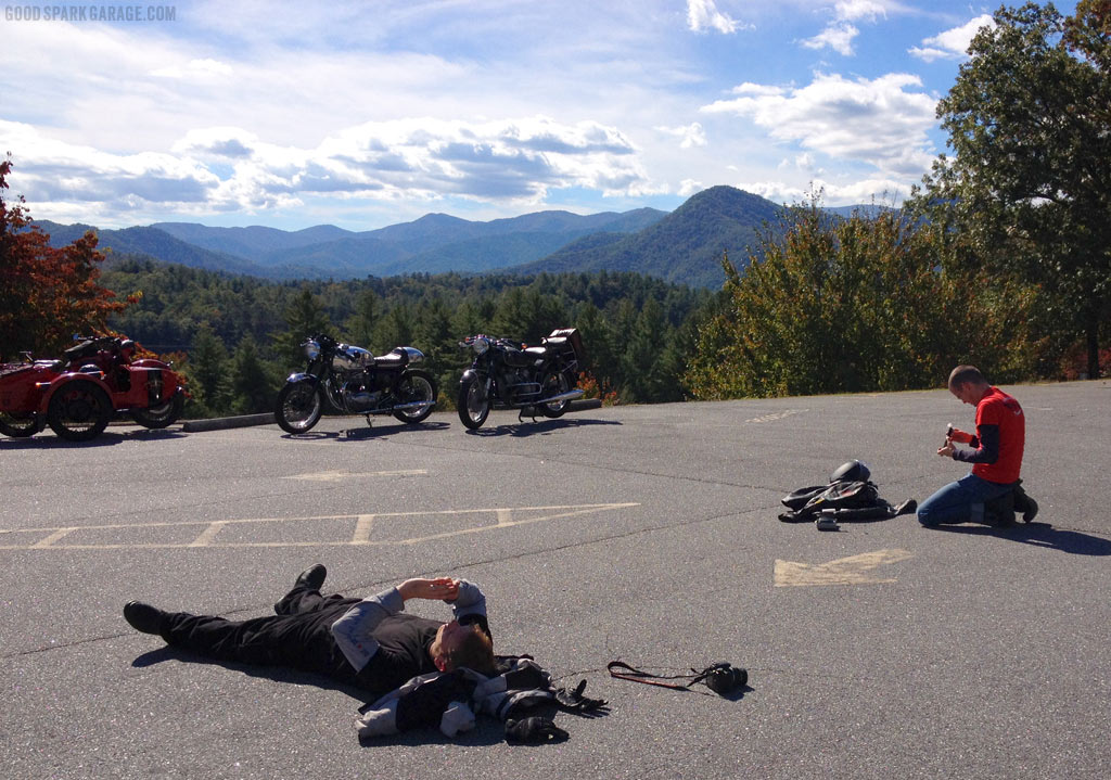 Stopping for a Rest off HWY 129: North Carolina Scenery