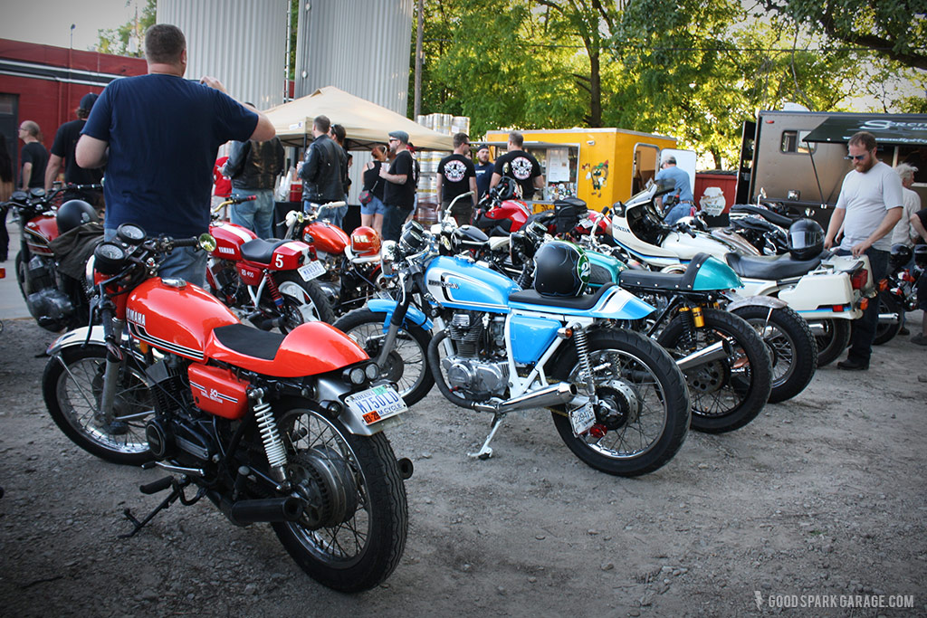 Rockers Reunion Indy bikes at Flat 12