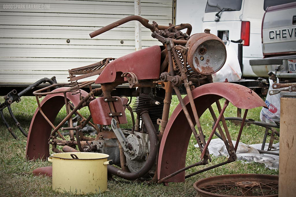 Vintage Motorcycle Skeleton