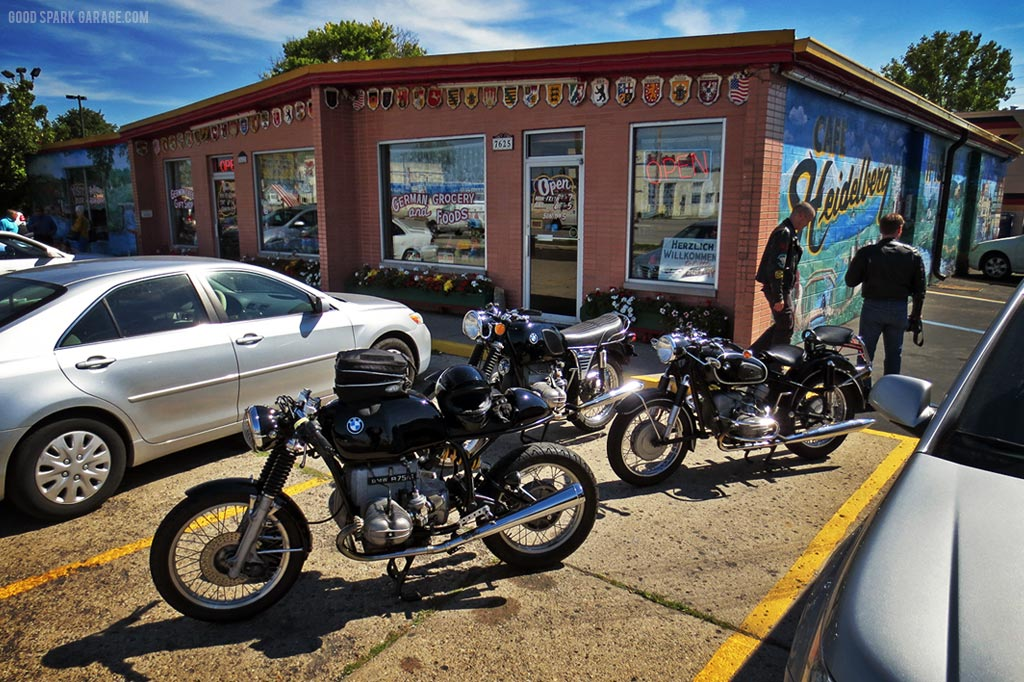 bmw motorcycles and heidelberg haus - good spark garage