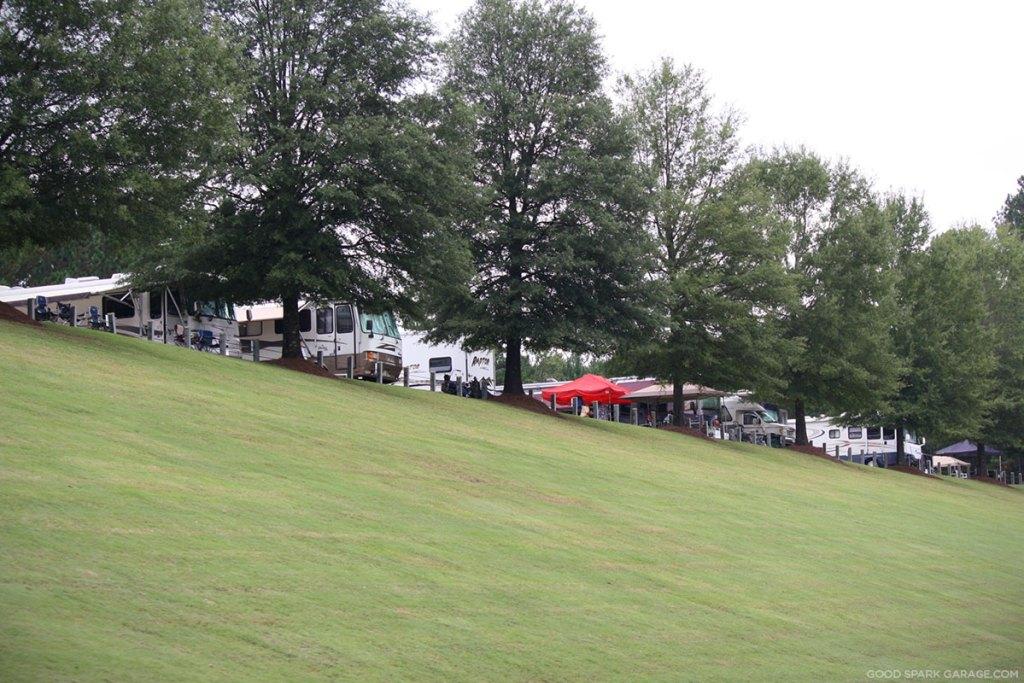 Camping at Barber Vintage Festival