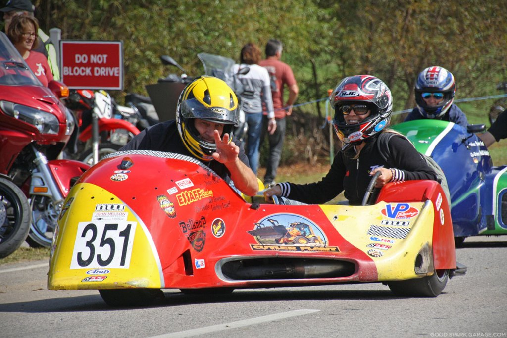 Barber Vintage Festival Sidecar Racing