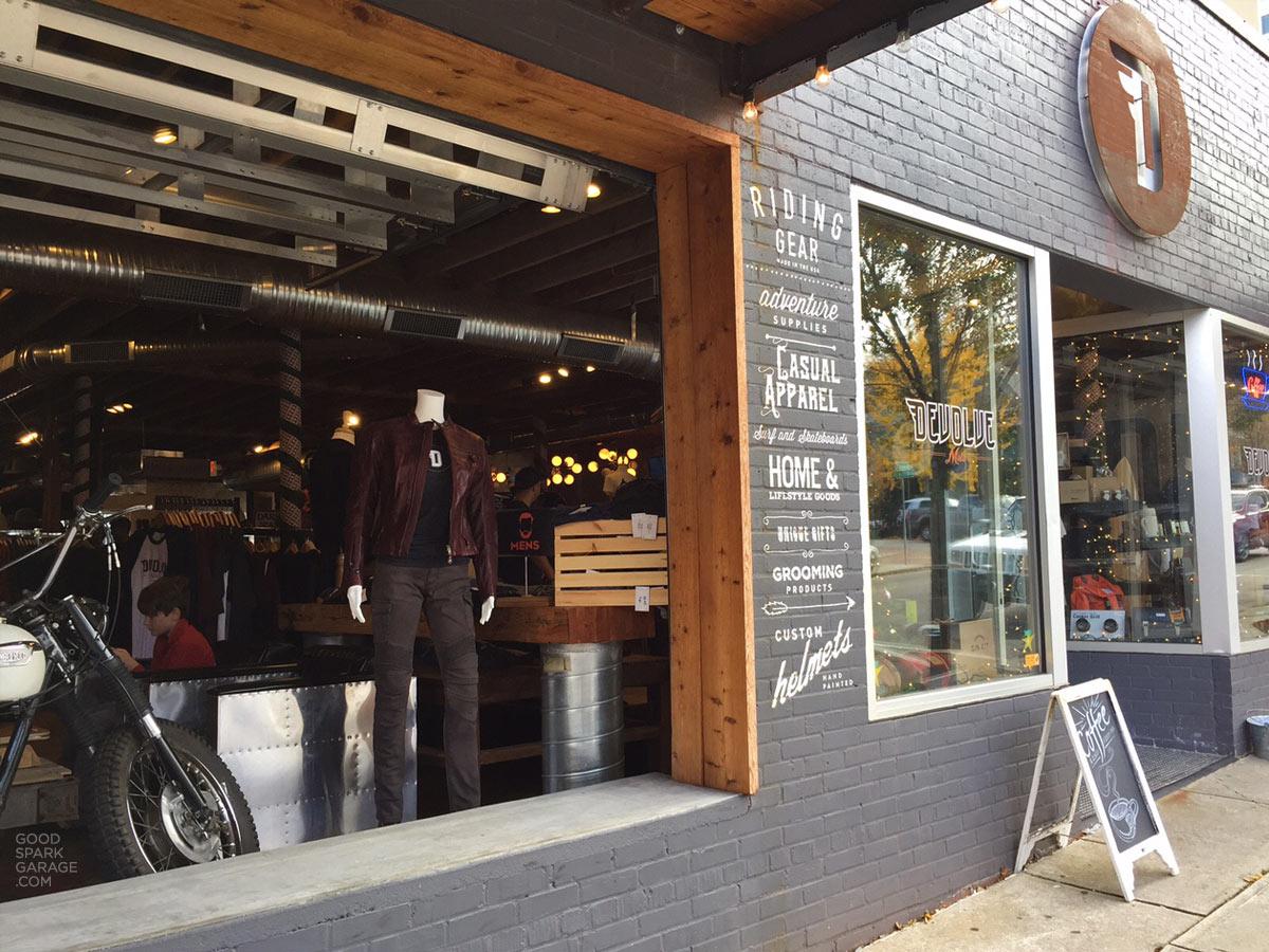 Shop devolve raleigh nc good spark garage devolve moto storefront raleigh nc solutioingenieria Images