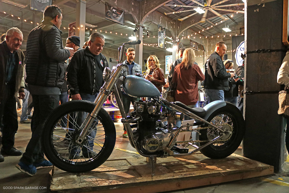 Garage brewed moto show 2017 good spark garage for Garage custom moto