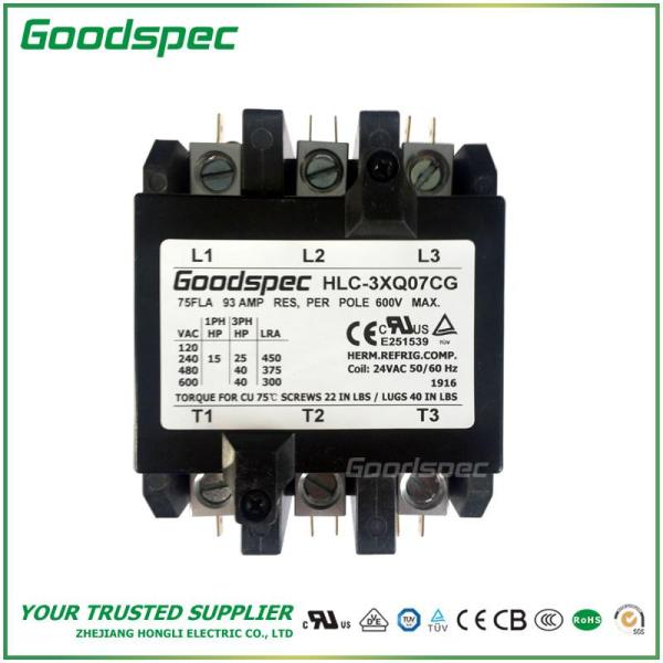 HLC-3XQ07CG(3P/75A/24VAC)DEFINITE PURPOSE CONTACTOR