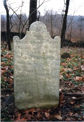 Gravestone of Archibald Buchanan, Sutton Family Cemetery, 1819
