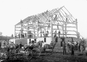 Example of post & beam construction