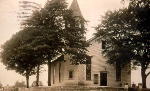 Locktown Christian Church, c.1900 (from an old postcard)