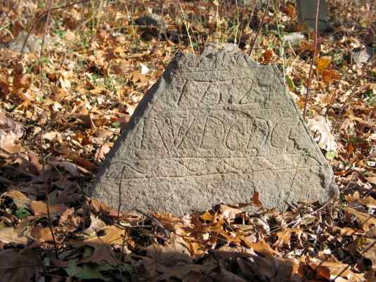 Oldest gravestone in the Rittenhouse Burying Ground