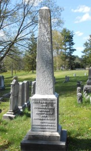 Bowne obelisk at the Barber Cemetery