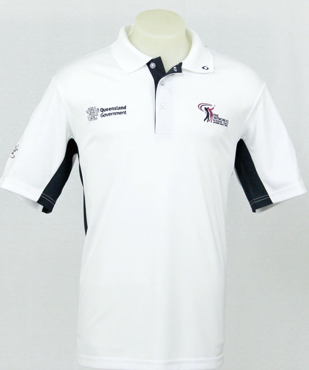 Custom Polo Shirt Design:  The Invincibles Junior Golf