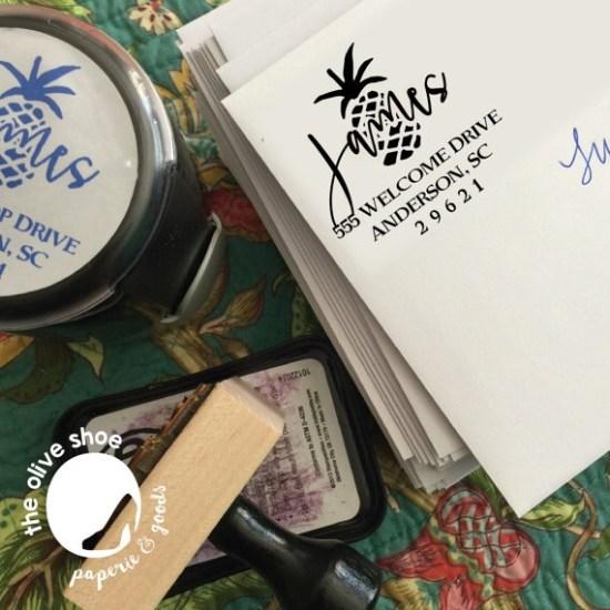 Pineapple address stamp